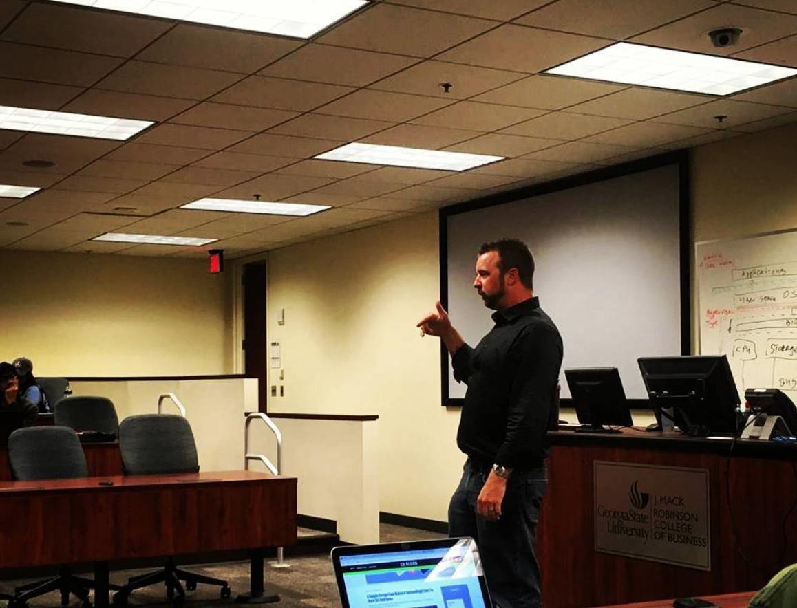 Principal Security Engineer, Patrick Kelley, Lectures at GSU.