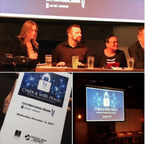 Patrick Kelley, Principal Security Engineer, sits on City National Bank/Royal Bank of Canada Cyber Panel!